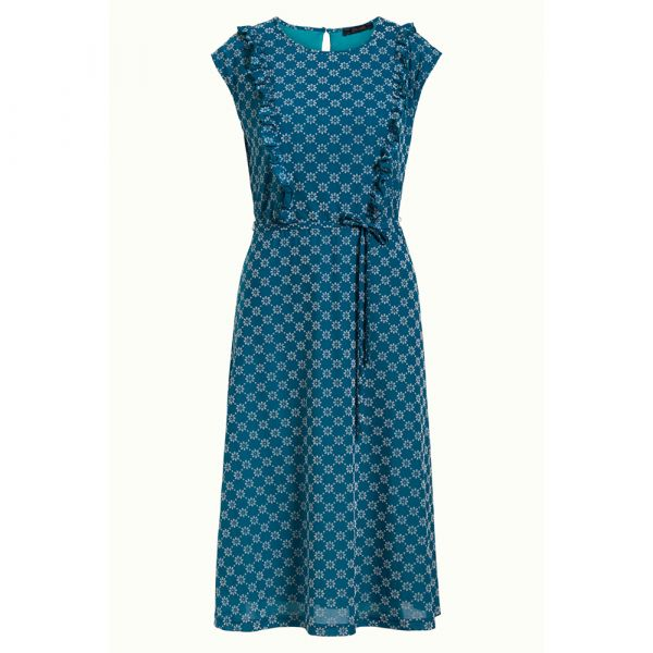 KING LOUIE - ADELE DRESS KEYLIME - DAMEN KLEID - BAY BLUE_1