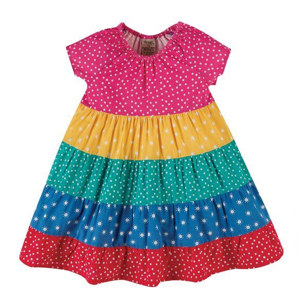 FRUGI - DOROTHY TWIRLY DRESS - KURZARM KLEID - RAINBOW