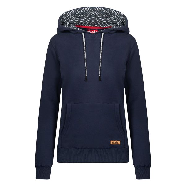DERBE - PETITE SHIP HOODY NAVY - DAMEN SWEAT HOODY KAPUZENPULLOVER - NAVY